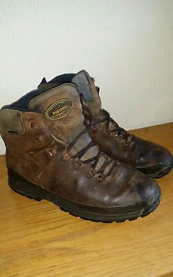 f236f00e568 MENS MEINDL LEATHER GORE TEX WALKING HIKING BOOTS SIZE UK 9 BROWN digatix