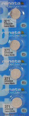 371 Renata Silver Oxide Swiss Made Button SR920SW Battery x 4 pcs