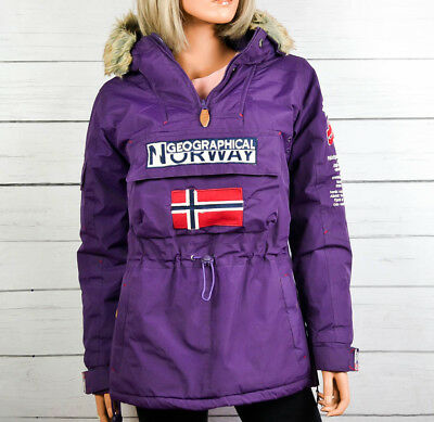 GEOGRAPHICAL NORWAY Womens Waterproof Parka Jacket Anorak Outdoor Size XS Small