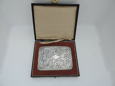 Finely Engraved Antique Art Deco Japanese Sterling Silver 950 Cigarette Case Box