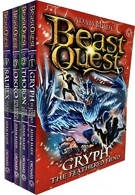 Beast Quest Series 17 Adam blade 4 Books Collection Set Pack Gryph, Thoron, Okko
