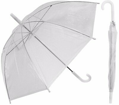 "12 Piece Lot - 32"" Arc Children Kid Clear Umbrella (standard frame)-RainStoppers"
