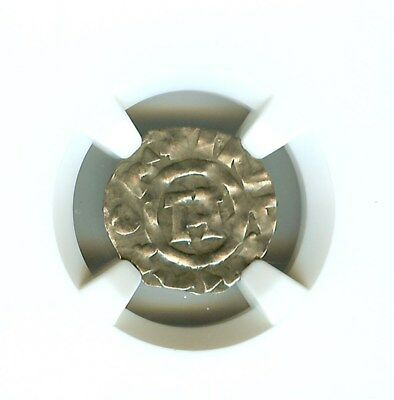 Henry Iii-V 1035-1125 A.d. Silver Denier -Coins Of The Crusades- Ngc Genuine