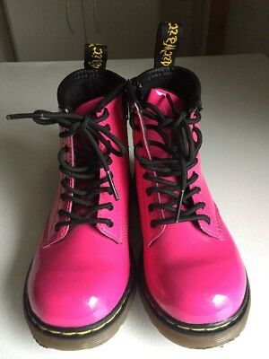 7bcb0f549ab2 Toddler Girl Dr. Martens Brooklee B Hot Pink Payent Leather Boots Size 9 US