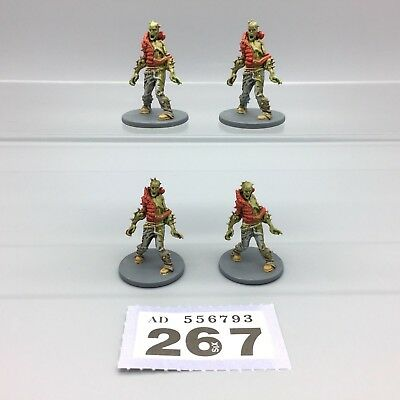 Guillotine Games Zombicide Painted Zombies Male Walkers Walking Dead X 4