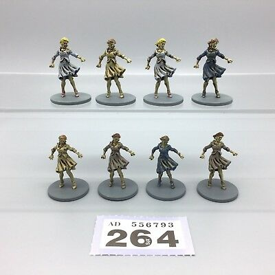 Guillotine Games Zombicide Painted Zombies Female Walkers Walking Dead X 8