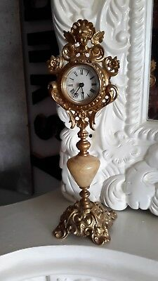 Vintage Gold Gilt Mantle Clock