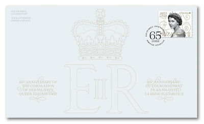 Canada 2018 Queen Elizabeth Ii 65Th Anniversasry Of Coronation First Day Cover
