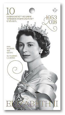 CANADA 2018 Queen Elizabeth II 65TH Anniversary of Coronation  Booklet of 10 MNH