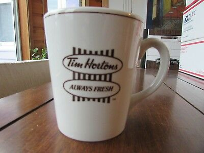"Vtg Large Traditional Tim Horton's Mug Steelite England "" Always Fresh """