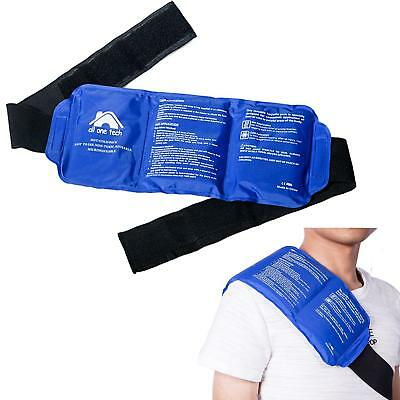 Reusable Ice Pack Gel Wrap Hot Cold Therapy Pain Relief Back Shoulder Large Heat