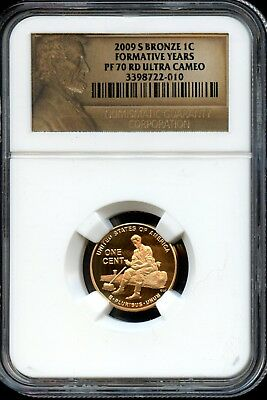 Gorgeous 2009-S PF 70 RD Ultra Cameo NGC Formative Years Bronze 1c Coin EG382
