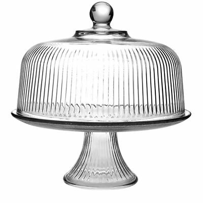 Anchor Hocking 86031L13 Monaco Glass Cake Stand & Cover Set