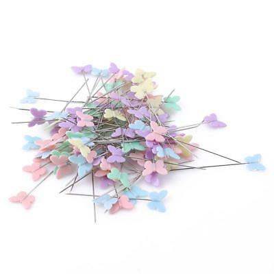 100pcs 45/55 mm Pins Patchwork Button Head Pins Long Coloured Quilting Tools 8C