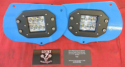 Blue LED Head Light Pod Bracket Kit Polaris Sportsman 1000 850 RZR 800