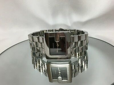 98c2c9f9750 GUCCI G 3600 J Stainless Steel Black Face Watch (41131) -  175.00 ...
