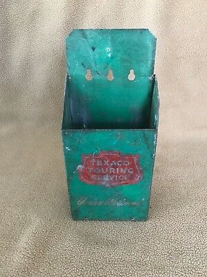Vintage Texaco Touring Service Map Holder with maps in fair condition