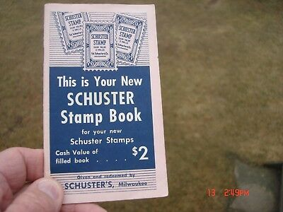 Vintage Schuster's Store Trading Stamp Book W/stamps  Milwaukee Wisconsin Wi Wis