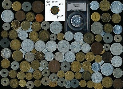 115 Old France & Ex-Colonies Coins & Related Countries (Collectibles) No Reserve