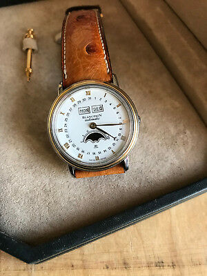 Blancpain Villeret Day Date Moon Phase 18K Gold & Stainless Steel Watch Full Set