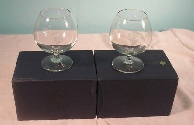 2 Matching Johnnie Walker Blue Label Whisky Glasses, NIB