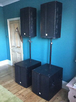 THOMANN PA SPEAKER System comprising bass bins, tops, connectors and cables