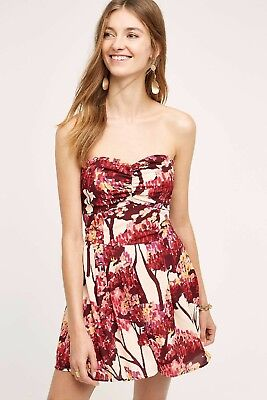 87732941e9db NEW Anthropologie Paper Crown Women s Red Nara Romper  188 Size Small