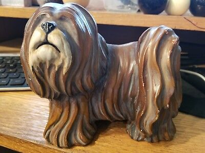 VINTAGE NEW-RAY RUBBER Plastic Dog Toy Figurine OLD ENGLISH