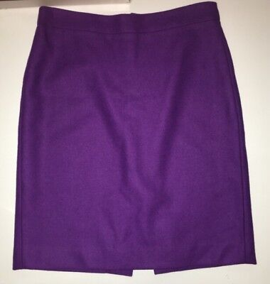 27cdf06a41 J. Crew Factory Women's The Pencil Skirt Double Serge Wool in Violet size 4  EUC