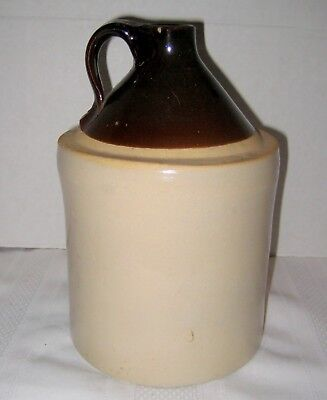 Antique Brown and Tan Stoneware Crock or Jug - Late 1800's - 9 1/4""
