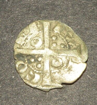 Crusader Cross Antique Coin 1100-1300 Europe Medieval Silver Ancient Mystical 00