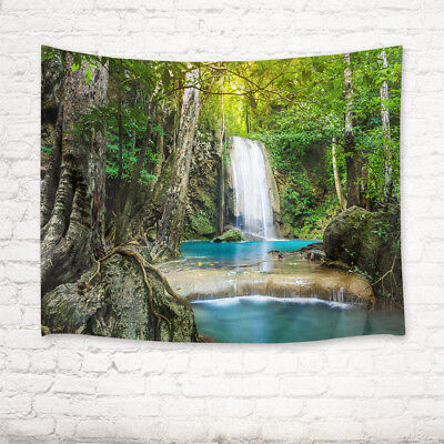 Tropical Jungle Waterfall Tapestry Wall Hanging Living Room Bedroom Dorm Decor