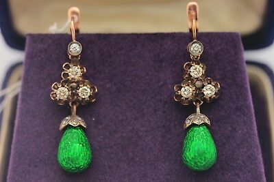 Antique Style New Ottoman  Dizayn Gold Brilliant Decorated Amazing Earring