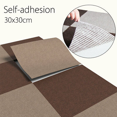 Self-adhesive Carpet Tiles Commercial Grade Heavy Duty Flooring Office Cover USA