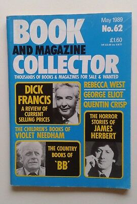 Book and Magazine Collector May 1989 No.62 James Herbert / Dick Francis