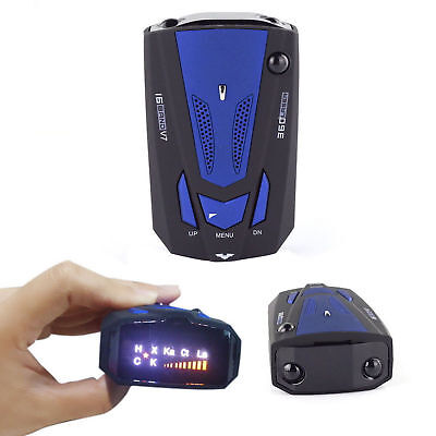 Anti Police Car 16-Band GPS Speed Radar Detector Scanning Voice Alert Laser LED