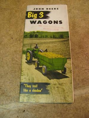 John Deere Big 3 Wagon Sales Brochure 943 953 963 Hall Hardware McComb Ohio