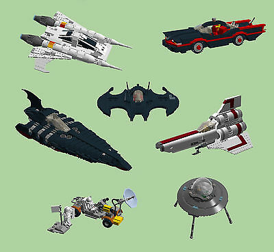Lego Custom Vehicles Instructions Only Batmobile Buck Rogers