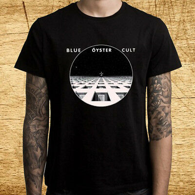 New Blue Oyster American Hard Rock Album Logo Men's Black T-Shirt Size S-3XL