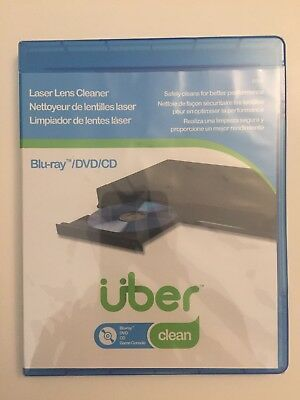 Uber Blu-ray DVD CD Game Console Laser Lens Cleaner NEW AND SEALED FREE SHIPPING