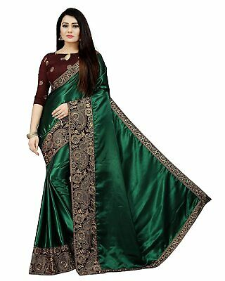 Green Bollywood Saree Party Indian Pakistani Ethnic Wedding Designer Sari