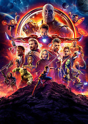 Infinity War Poster, Marvel Avengers Movie NEW 2018, FREE P+P, CHOOSE YOUR SIZE