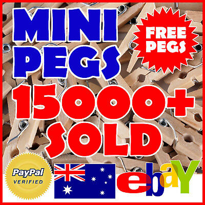 Mini Pegs Real Natural Wood Craft Wedding Clothes Line Photo 100 50 200