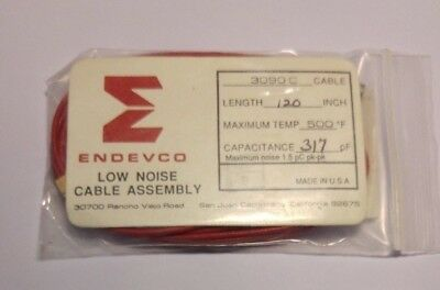 New Endevco 3090C Low Noise Cable Assembly 120 Inch 317 Pf Capacitance