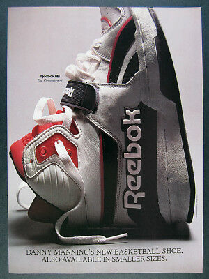 1988 Reebok the Commitment Basketball Shoe photo vintage print Ad