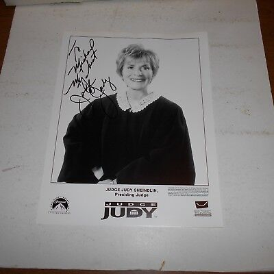 former family court judge Judy Sheindlin Hand Signed Photo