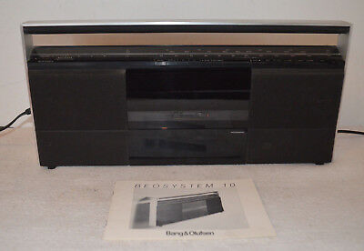 BANG & OLUFSEN Beosystem 10 Music System Tape Player FM//MW Tuner + Instructions