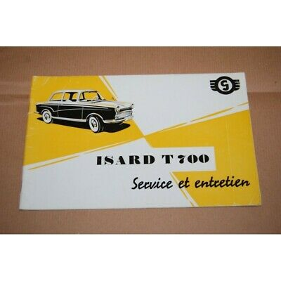 Isard T 700 Service Et Entretien 1958 French Text Good