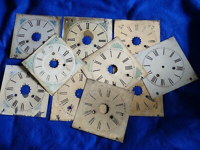 10 x antique wall clock faces