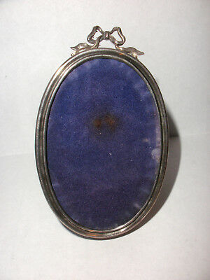 """Antique Cartier Sterling Silver small Oval Photo picture Frame 3""""x2"""""""